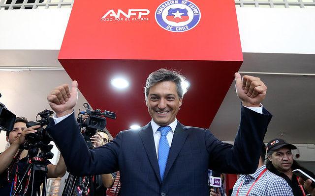 Sebastián Moreno asumiendo la presidencia de la ANFP | Agencia Uno
