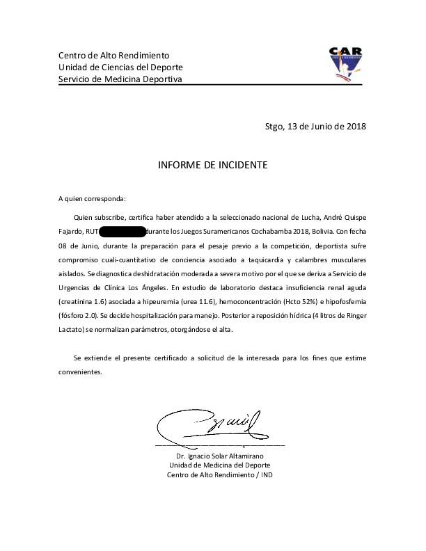 Informe del Incidente André Quispe