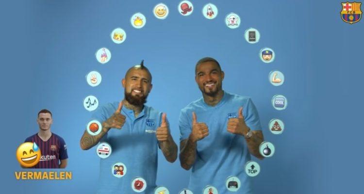 Ahora le piden los emojis: El divertido desafío que protagonizó Arturo Vidal en el FC Barcelona