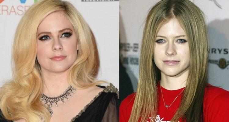 Avril Lavigne en 2019 y 2003   Agence France-Presse