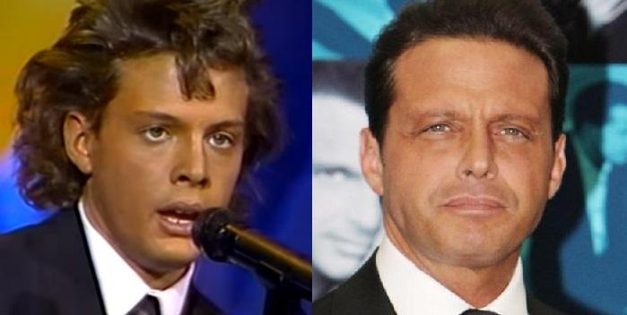 Luis Miguel en su juventud y en 2018