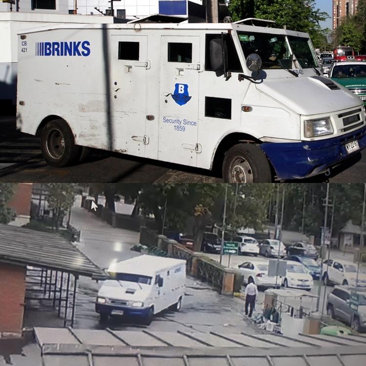 Camión real vs camión utilizado en el robo
