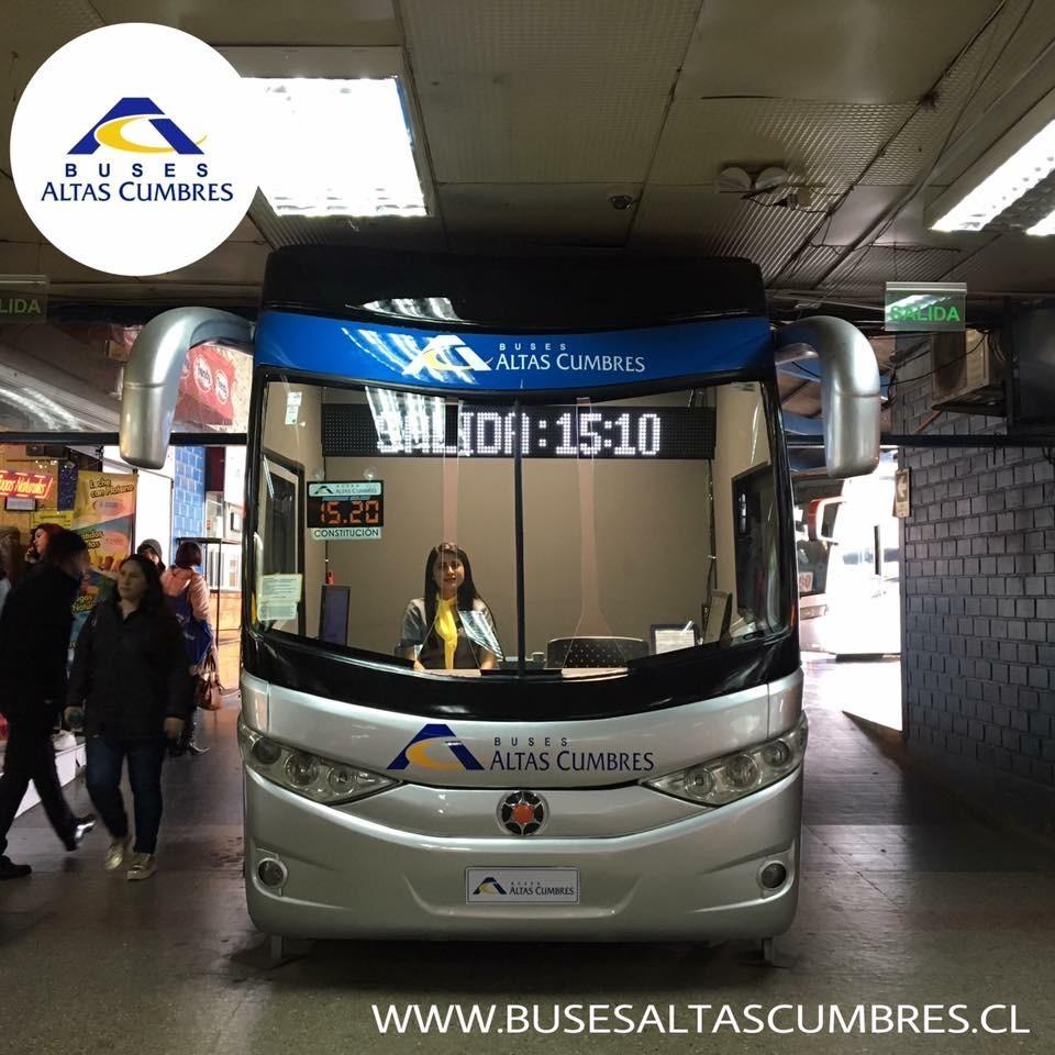 Buses Altas Cumbres   Cabina de bus dentro del terminal