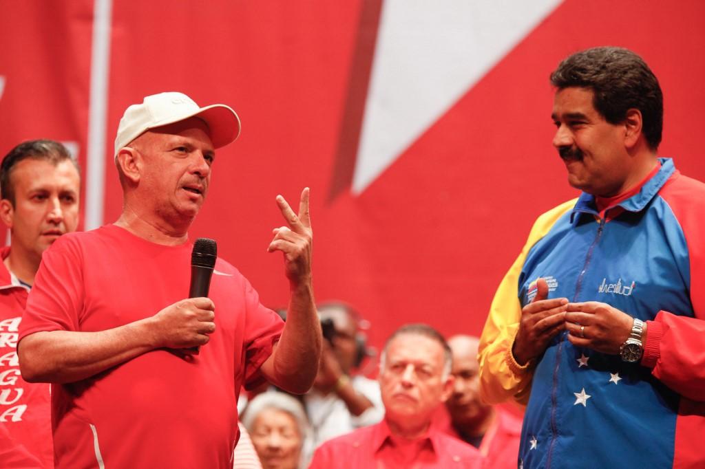 Hugo Carvajal con Maduro en 2014 | Agence France-Presse