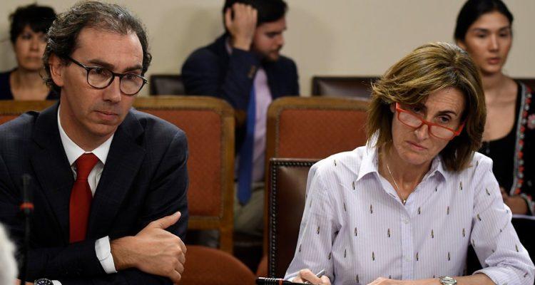 Raúl Figueroa (izq.) y Marcela Cubillos (der) | Pablo Ovalle | Agencia UNO