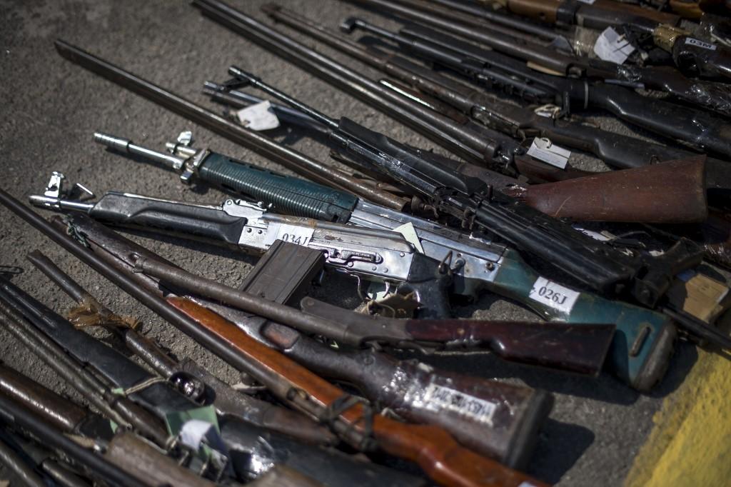 Armas de narcotraficantes   ARCHIVO   Agence France-Presse