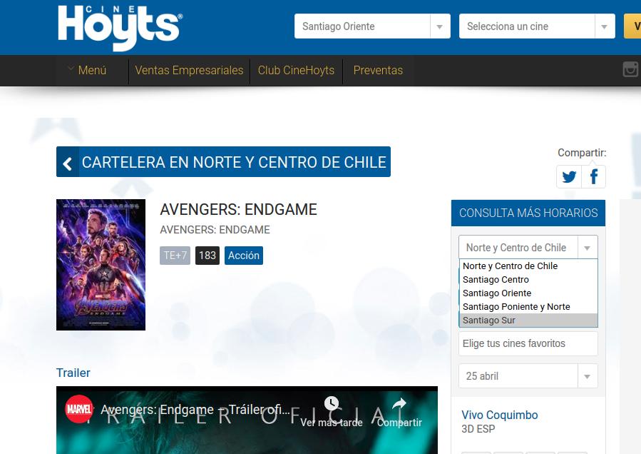 Cinehoyts.cl