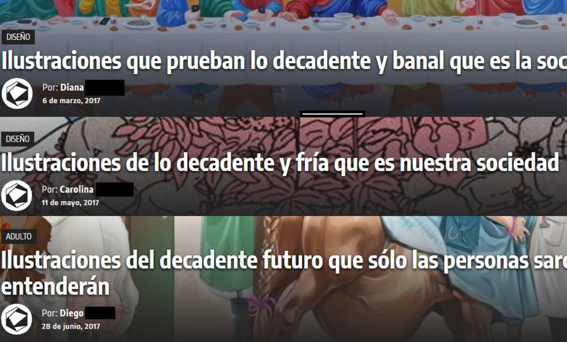 Capturas de pantalla de Cultura Colectiva | El País