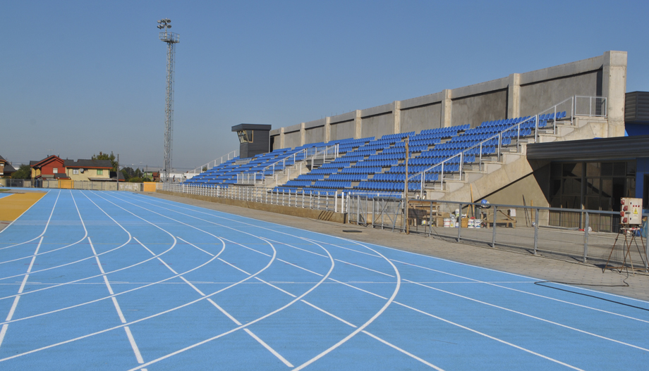 El Estadio Quilamapu de Chillán, donde el denunciado impartía sus clases de atletismo en el Ñuble