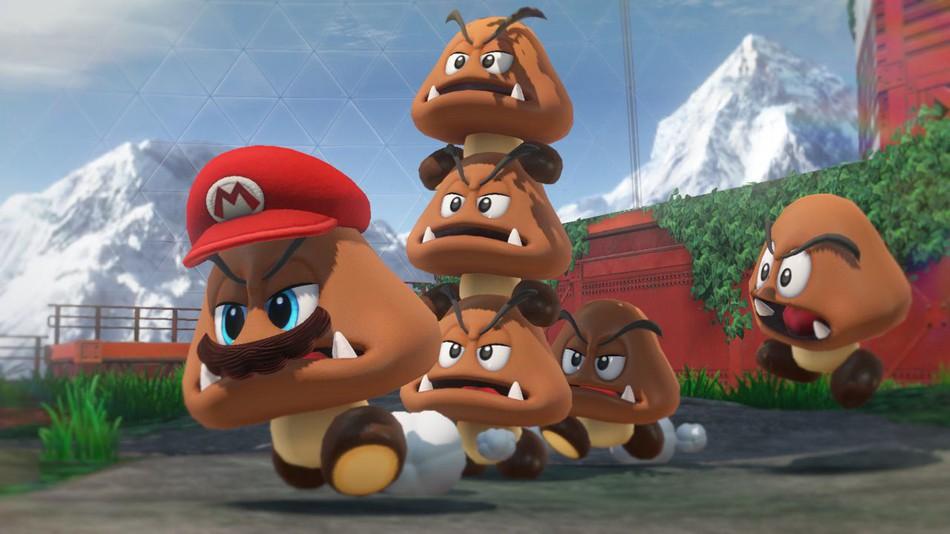 Goombas en el juego Super Mario Odyssey (2017)