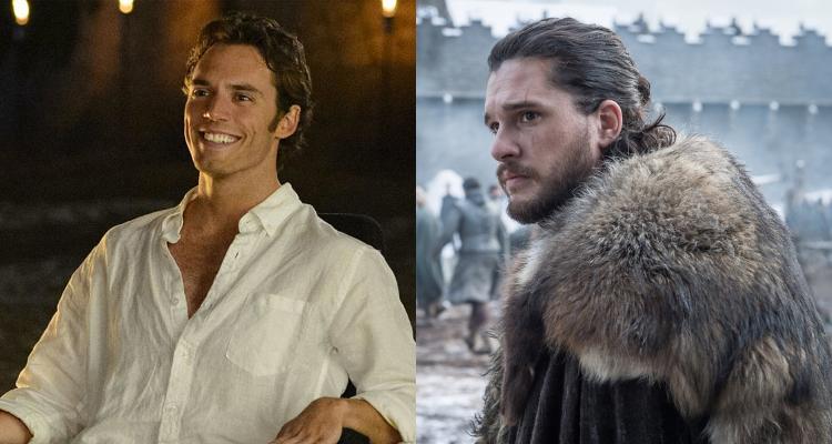 "Izquierda: Sam Claflin en ""Yo antes de ti"" | Derecha: Kit Harington como Jon Snow en ""Game of Thrones"""