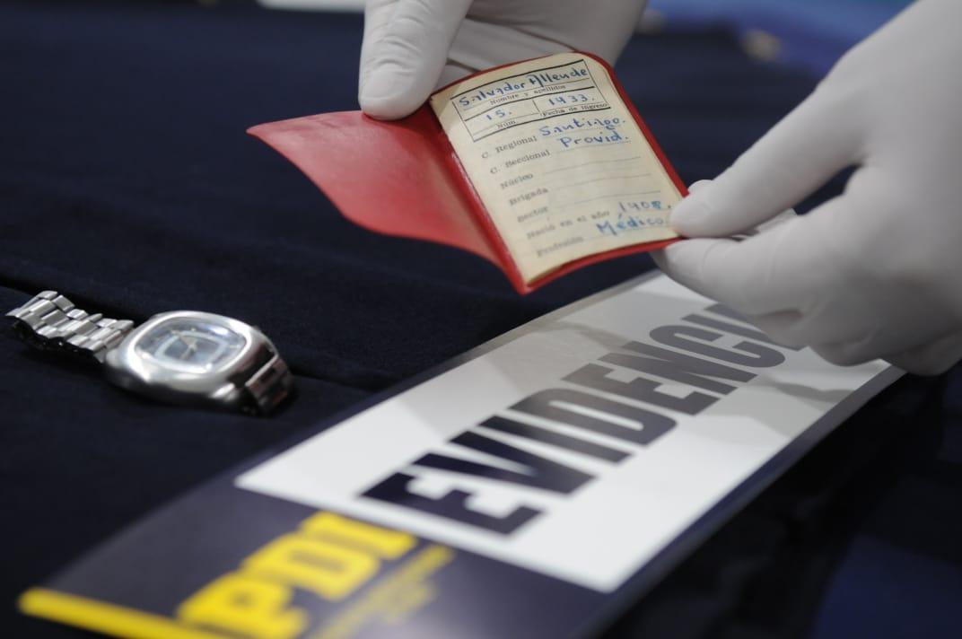 Objetos recuperados del Museo de Solidaridad de Salvador Allende