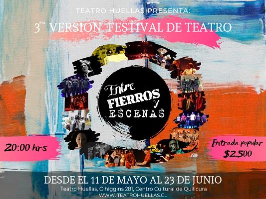 Afiche del Festival Entre fierros y escena (c)