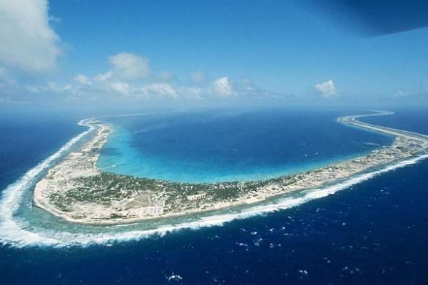 Laguna donde explotaron las bombas en el atolón | Wikimedia Commons