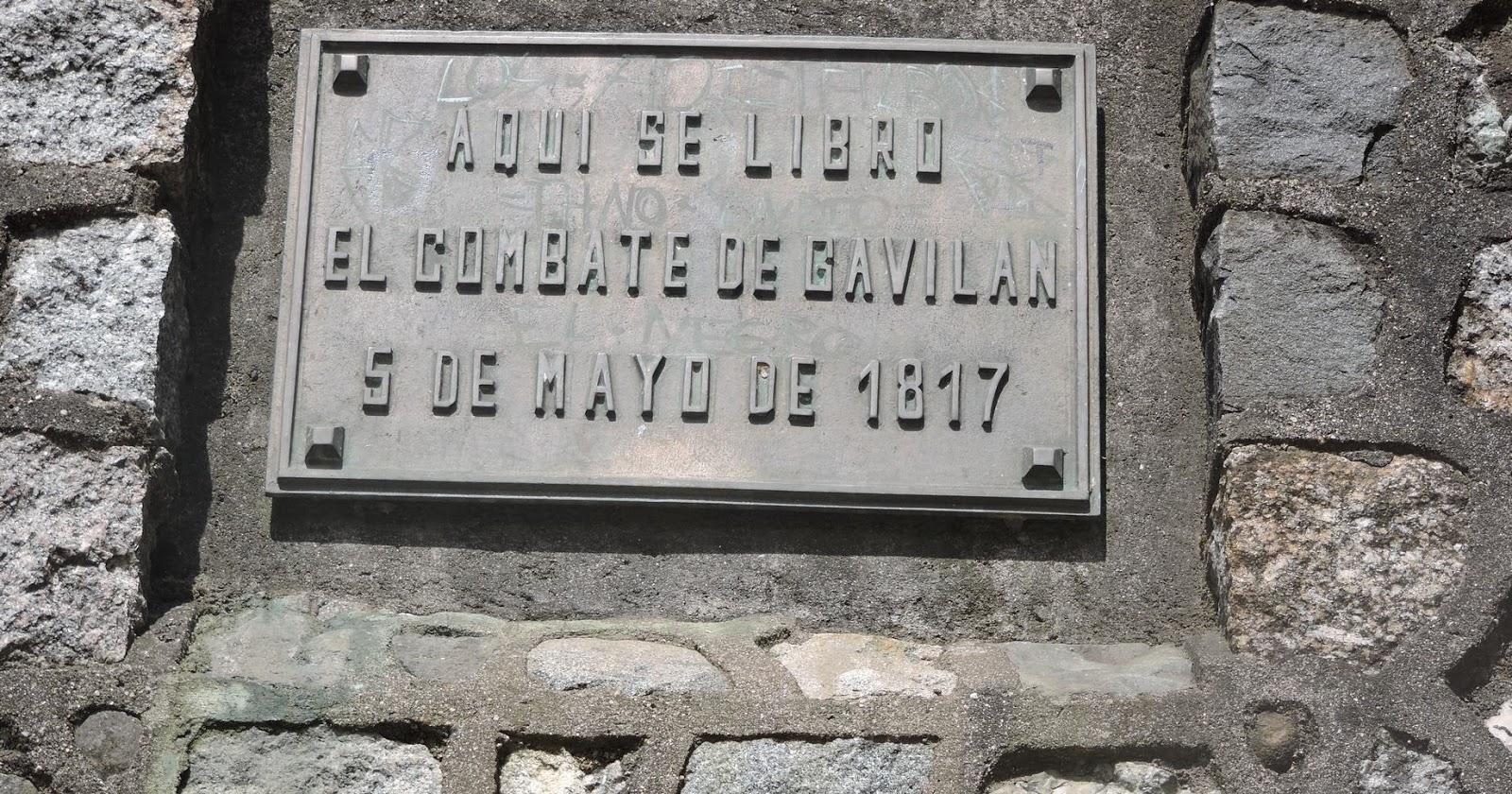 Placa recordatoria Batalla de Gavilán