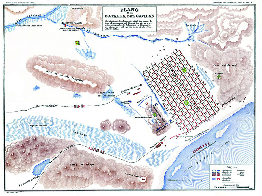 Plano Batalla de Gavilán   Wikimedia Commons