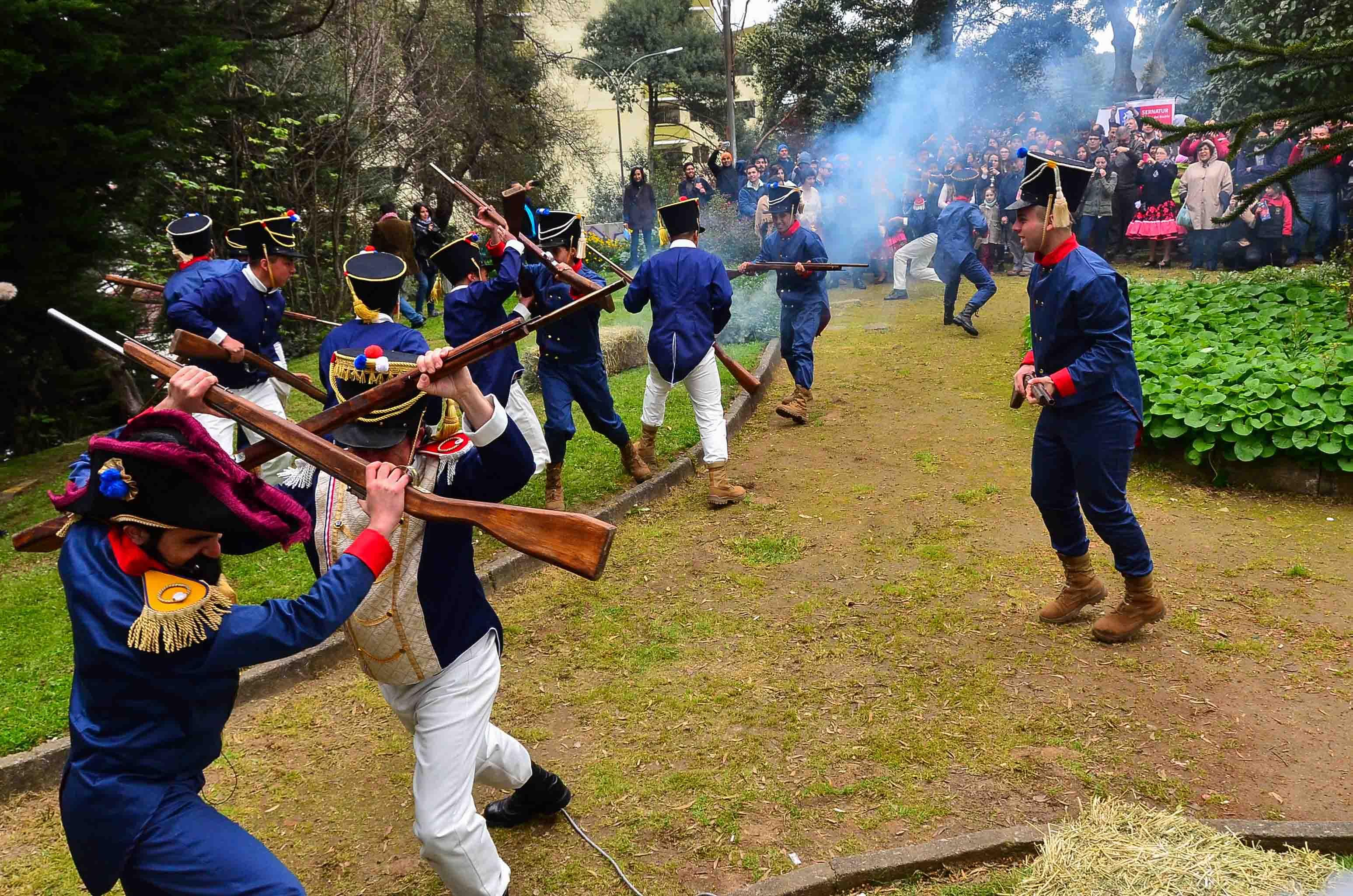 Recreación de la Batalla de Gavilán en 2017   Sernatur