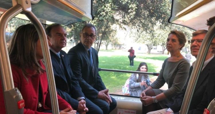 Bus eléctrico que recorrerá las calles de Las Condes