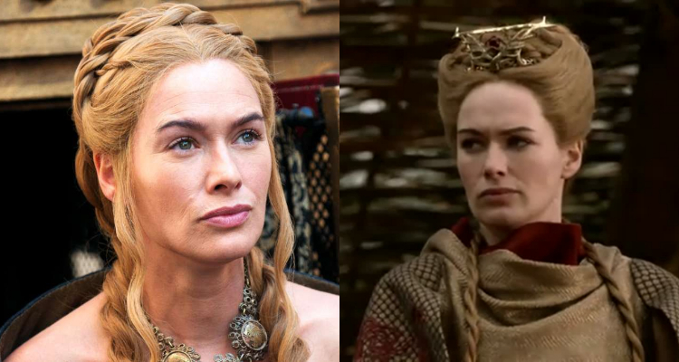 "Peinados de Cersei en las primeras temporadas de ""Game of Thrones"""
