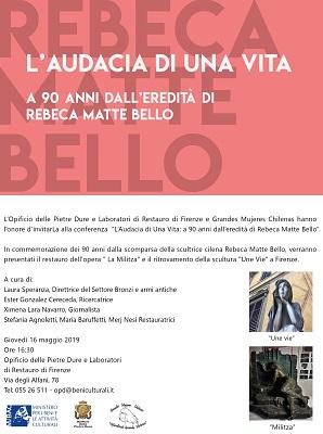 Conferenza Opificio delle Pietre Dure di Firenze, Grandes Mujeres Chilenas, Ester González Cereceda (c)