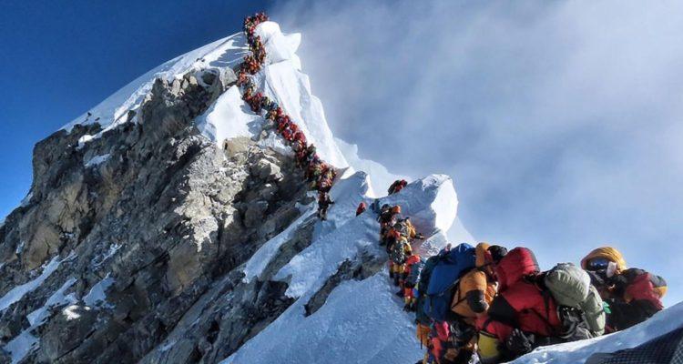 Imagen compartida por un montañista de la expedición Nirmal Purja's Project Possible