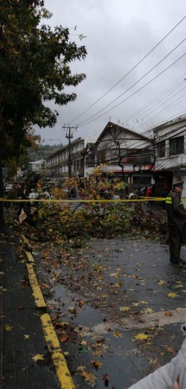Daños en Concepción tras paso de tromba