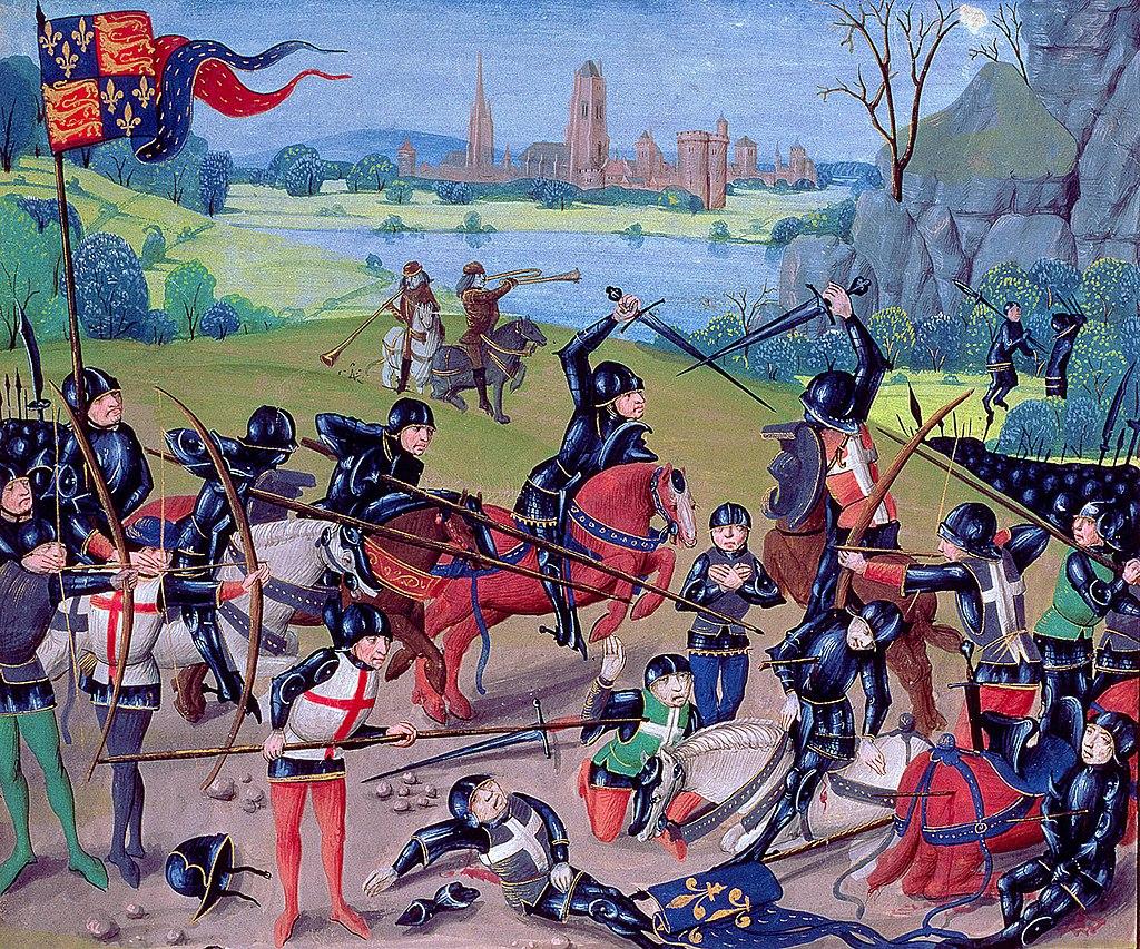 La batalla de Agincourt de 1415 (CC) Wikimedia Commons