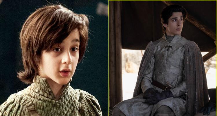 Robin Arryn en la 4a temporada de Game of Thrones vs. la octava
