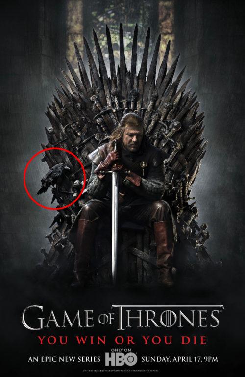 """Presunto spoiler en el póster de la temporada 1 de """"Game of Thrones"""""""