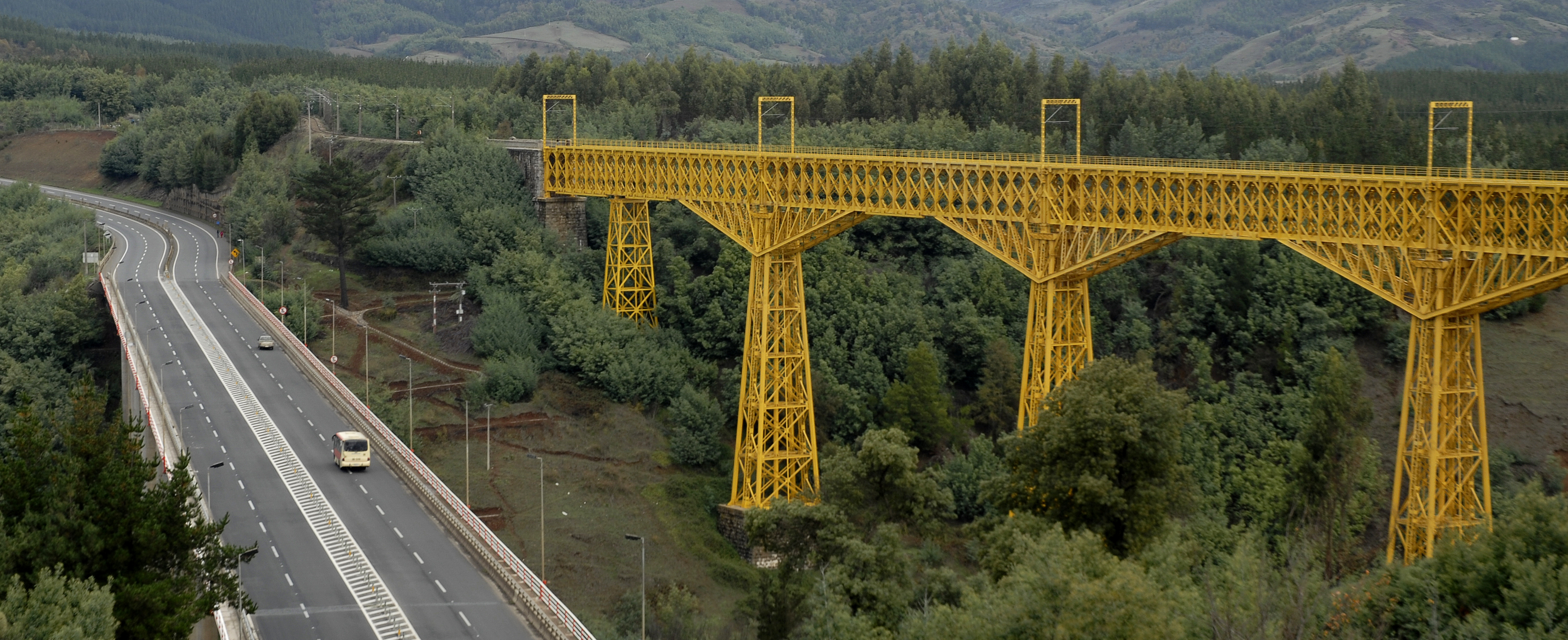 El Viaducto de Malleco es frecuentemente adjudicado a Eiffel como uno de sus diseñadores. Crédito: Gobierno