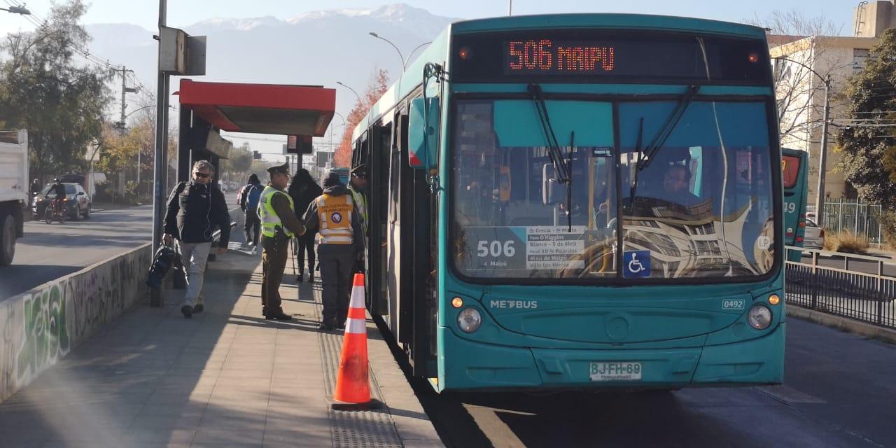 Fiscalización del sistema de transportes público en Santiago