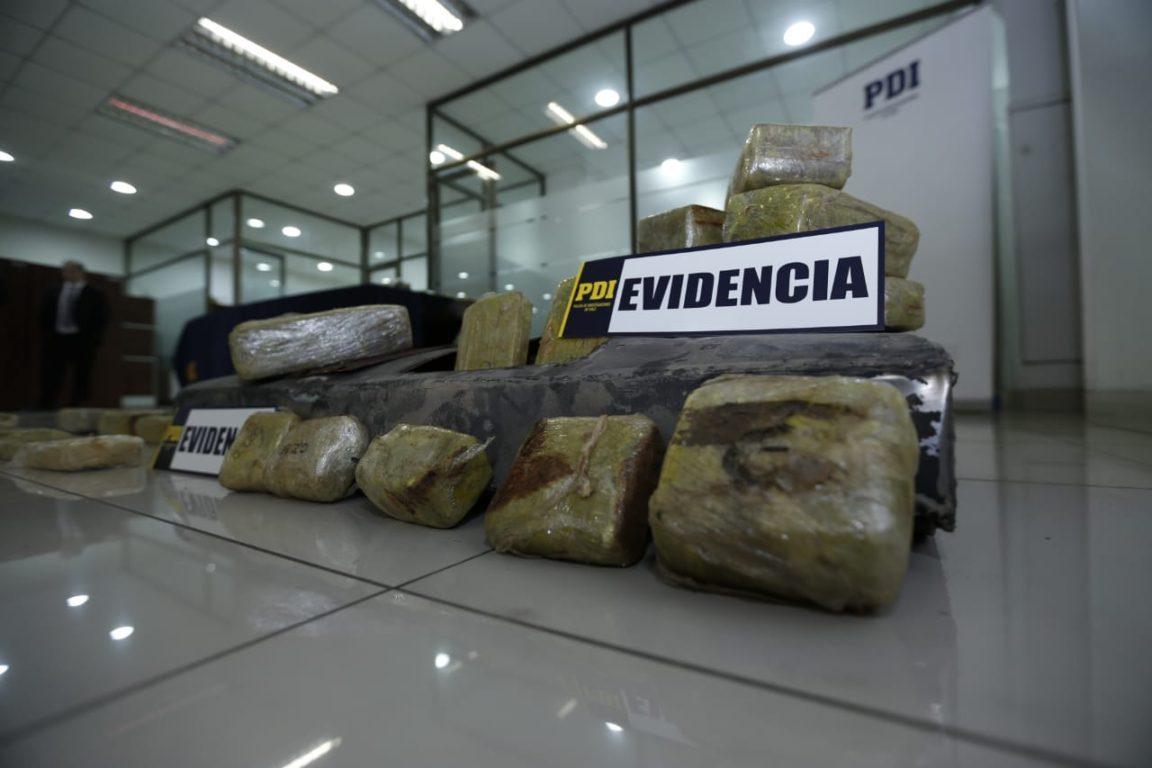 Droga incautada en Santiago