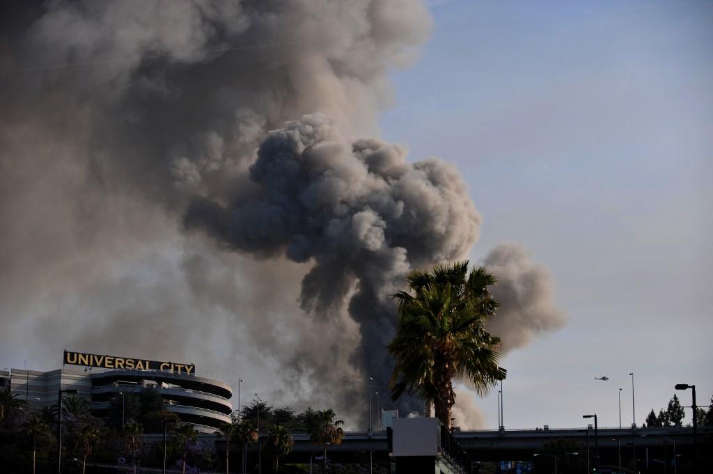 Imagen de archivo del incendio que afectó a Universal Studios | Agence France-Presse