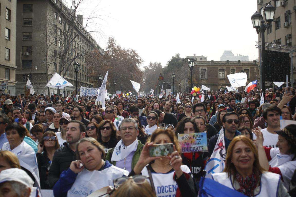 Marcha del Colegio de Profesores el pasado jueves  | Sebastián Brogca | Agencia UNO