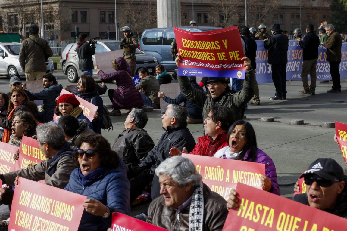 Manifestación de profesores
