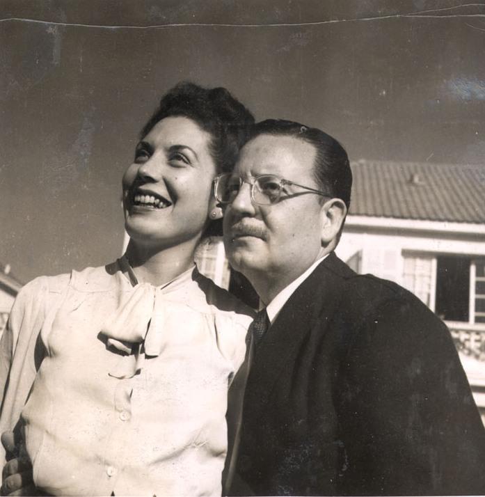 Hortensia Bussi junto a Salvador Allende en 1946 (CC) Wikimedia Commons