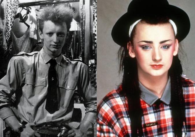 Boy George en su adolescencia y en los 80's