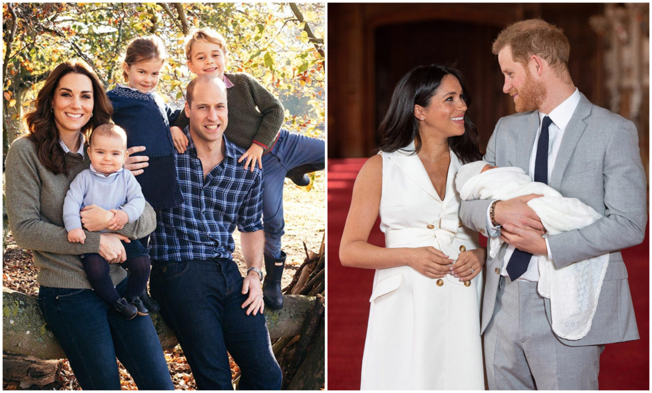 William y Harry y sus familias
