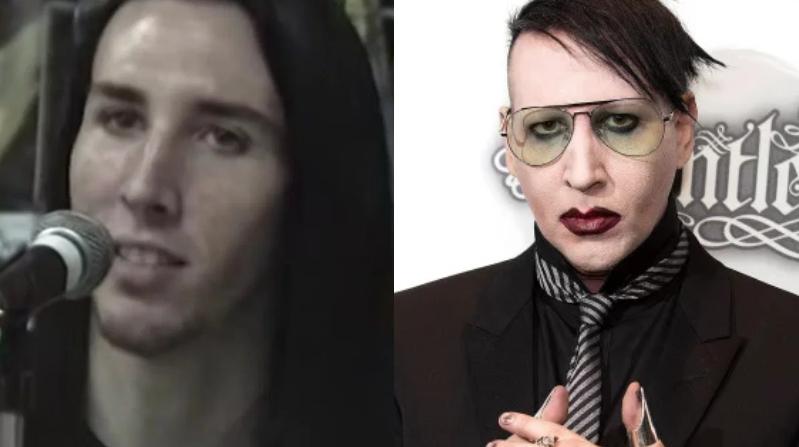 Marilyn Manson veinteañero y cerca de los 50 años