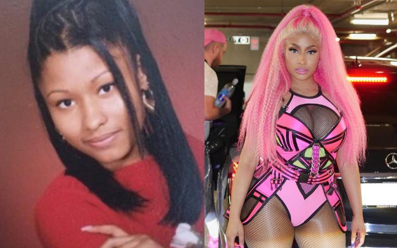 Nicki Minaj a los 17 y ahora