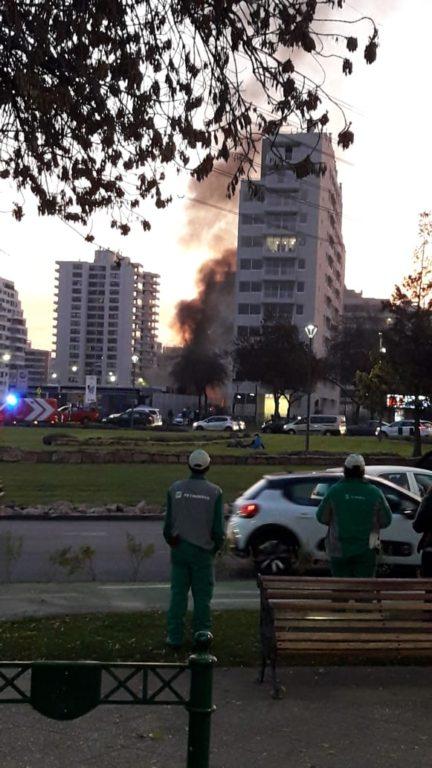 Incendio en Las Condes