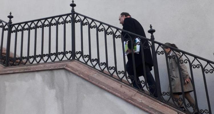 Ministro Moreno llegando a reunión con Piñera | Tomás Celedón (RBB)