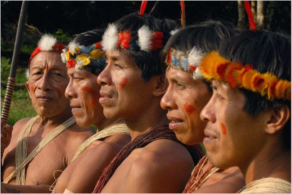 Nativos Huaorani hacia el año 2000 | Wikimedia Commons