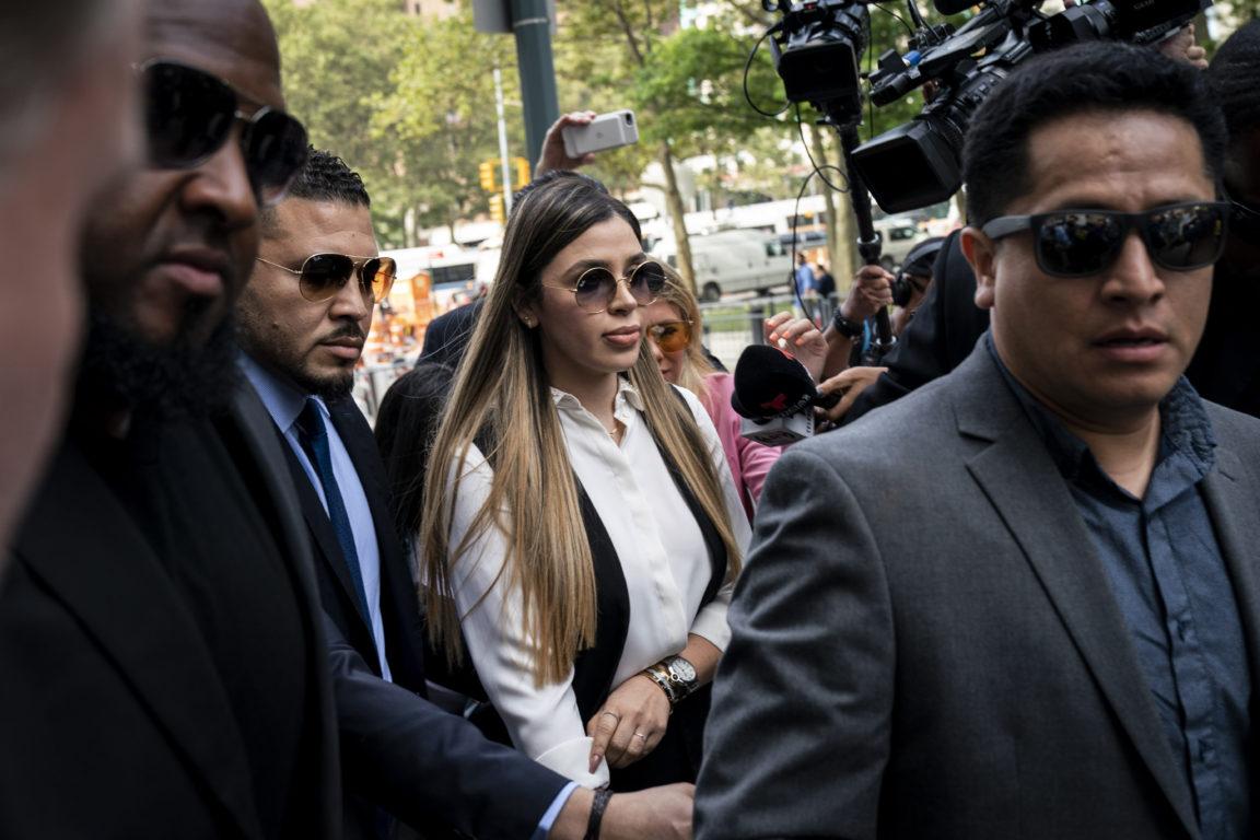 Emma Coronel Aispuro, esposa del Chapo, arriba al tribunal para conocer la sentencia de su marido. Drew Angerer | Getty Images | Agence France-Presse