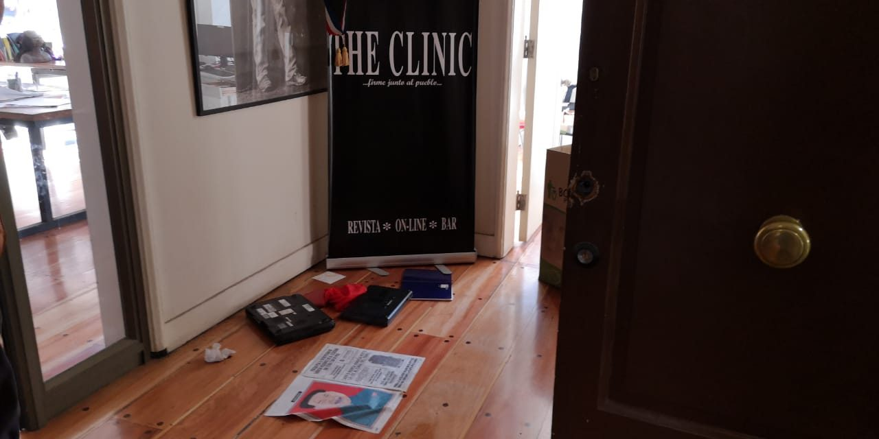 Robo a oficinas de The Clinic