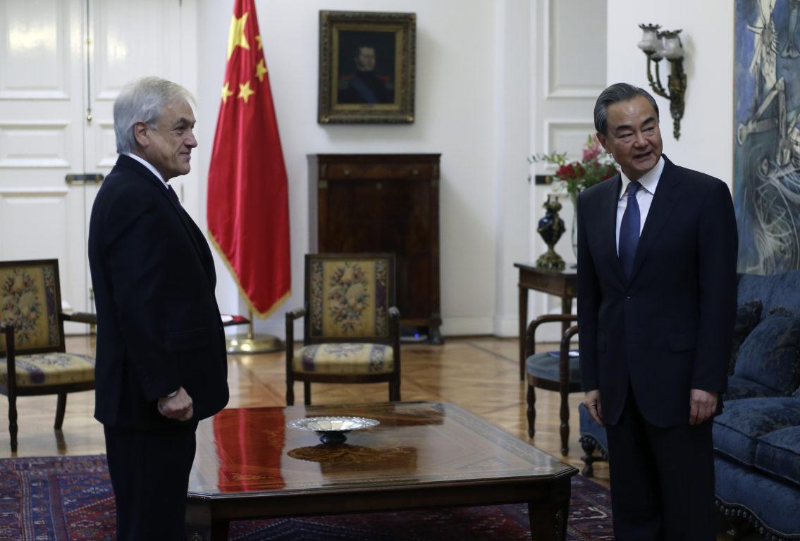 El Presidente de la República, Sebastián Piñera, recibe en audiencia al Ministro de Relaciones Exteriores de China, Wang Yi | Cristóbal Escobar | Agencia UNO
