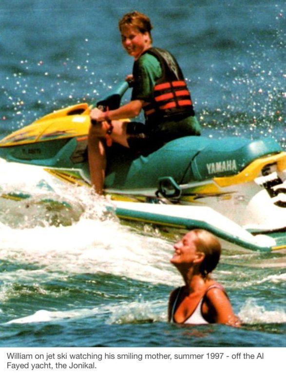 Diana y William en 1997