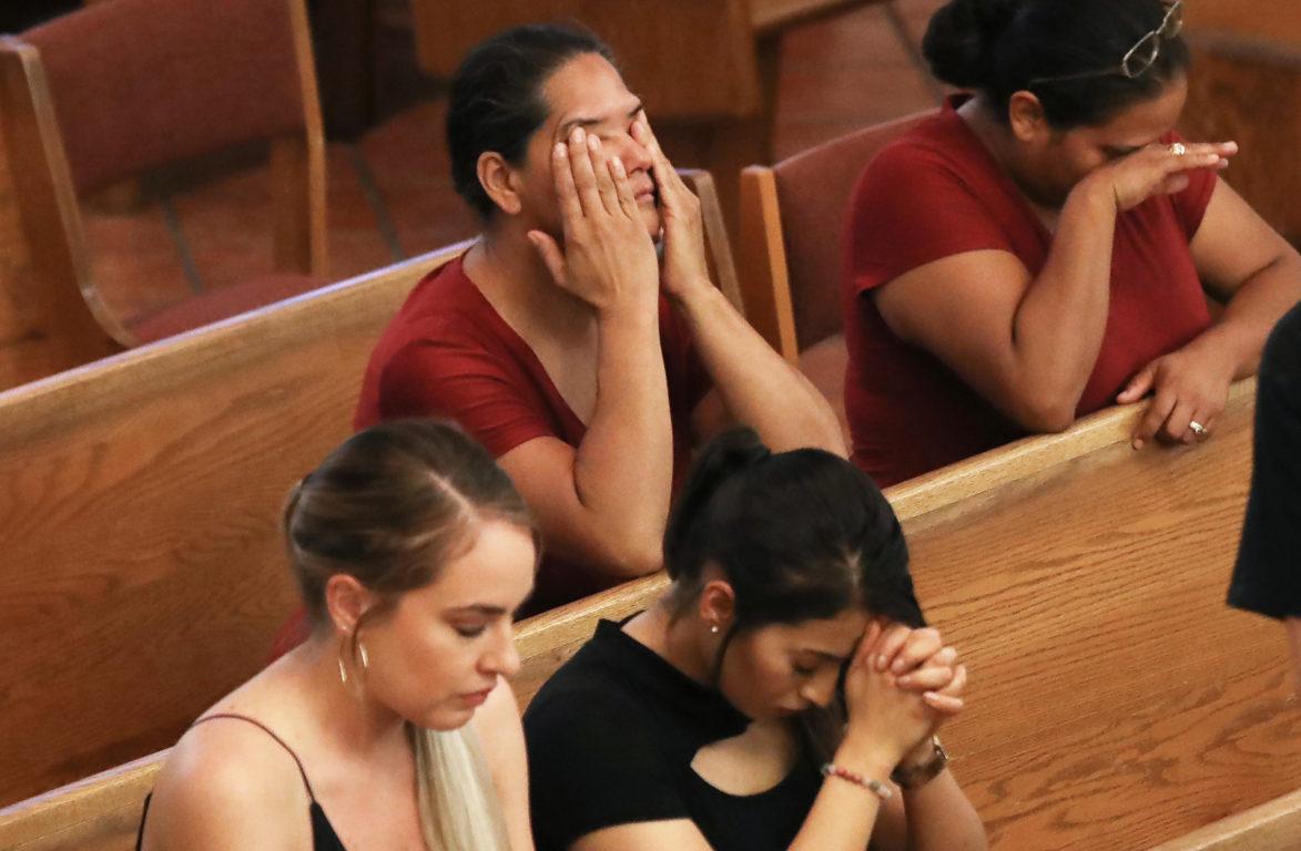 Vigilia en El Paso. Mario Tama | Getty Images | Agence France-Presse