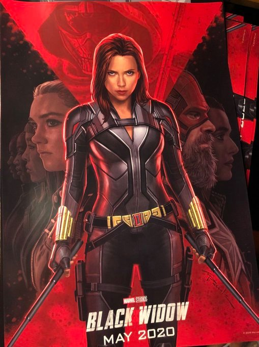 "El primer afiche de ""Black Widow""."