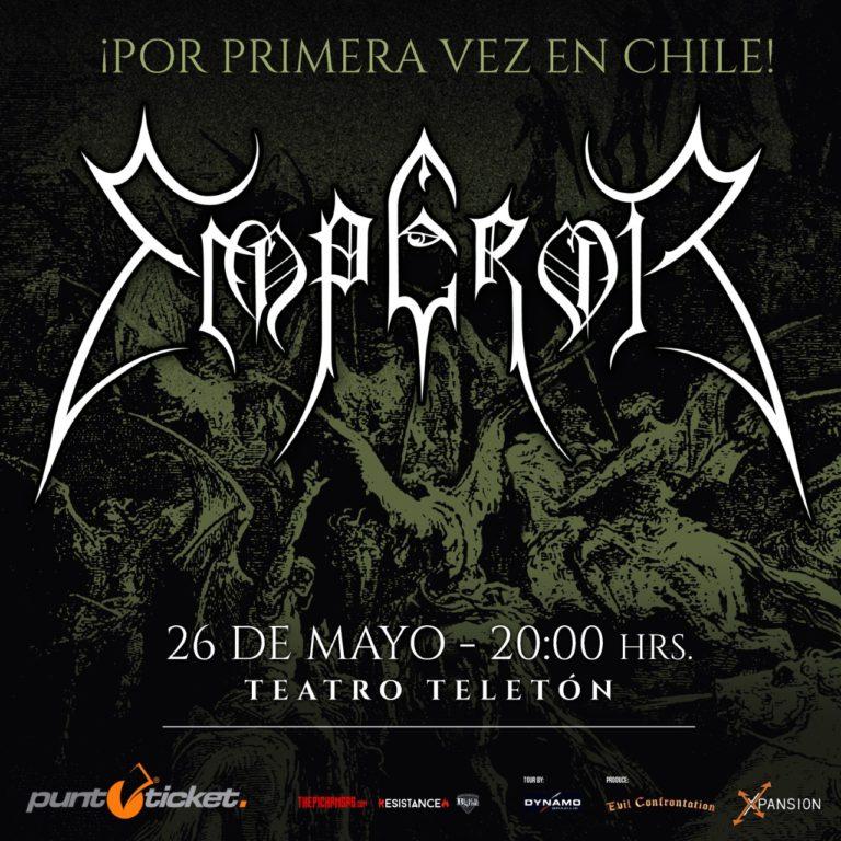 Afiche del show de Emperor en Chile